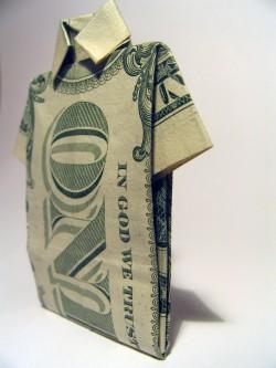 'Dollar origami 4' by Piotr Bizior