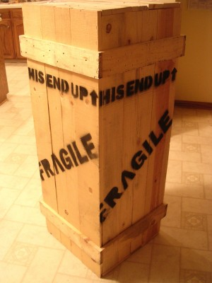 'Crate containing Leg Lamp' by J Stewart